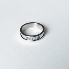 UCCOVER ab51SS日im光面银色简约字母食指环男女戒指尾戒饰品