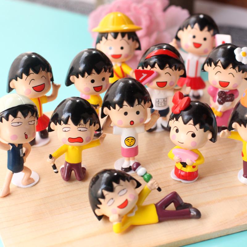 动漫周边樱桃小丸子手办公仔玩具玩偶模型摆件节日礼物汽车摆件