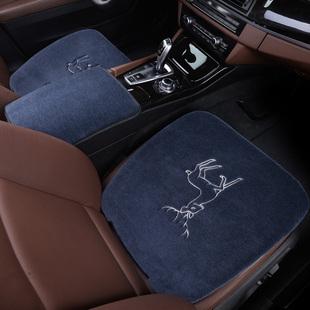 纯羊毛汽车坐垫冬季短毛绒奥迪A6L宝马X5系无靠背3三件套座垫单片