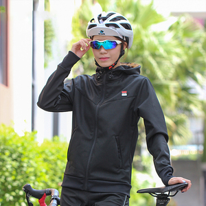 Winter bicycle riding suit long-sleeved fleece suit men's thick mountain bike clothing women's bicycle clothing decoration equipment