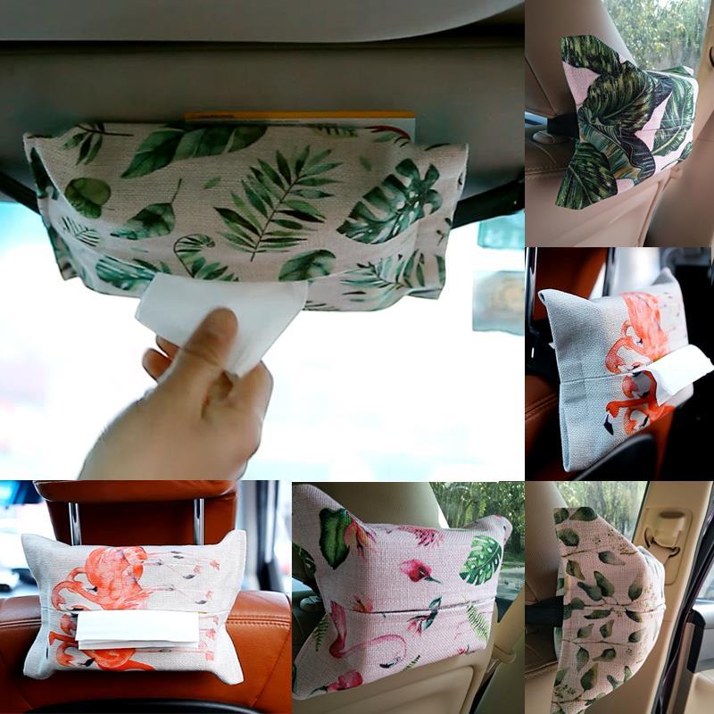 车载纸巾盒汽车用品挂式遮阳板车用ins抽纸盒车上车内座式纸巾套