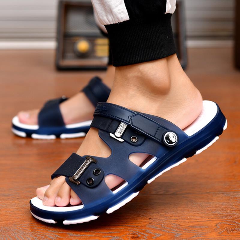 拖鞋男士凉鞋一字拖男新款韩版潮流时尚浴室内外穿两用凉拖鞋防滑