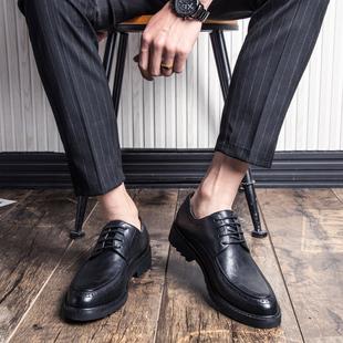 皮鞋男韩版英伦潮鞋休闲商务正装西装新郎婚礼鞋百搭青年大码男鞋图片
