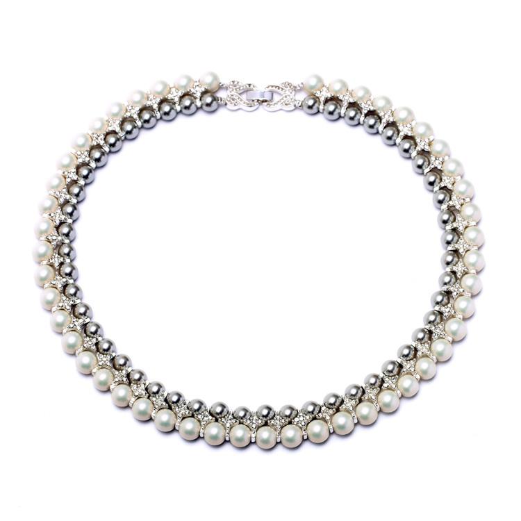 珍珠项链女欧美饰品颈链派对宴会礼服配饰气质女士项圈短款锁骨链