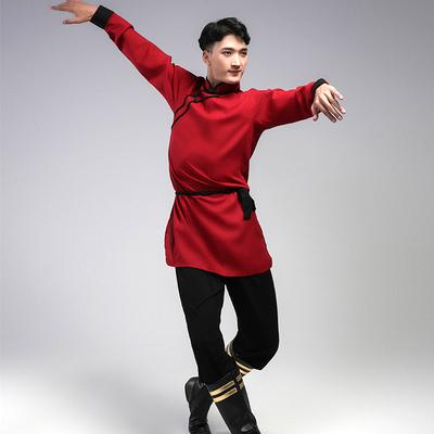 定制蒙古民族舞蹈新男款练功服舞台表演出比赛艺考级定做练习服装