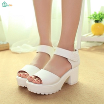 The 2016 summer shoes fish mouth sandals heels platform