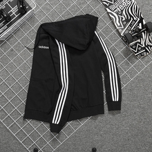 Adidas coat men's autumn and winter new authentic classic windbreaker with plush casual jacket