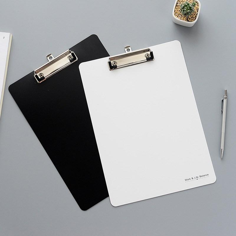 简约学生黑白印象A4书写板夹 垫板文件夹板塑料阅读板 纯色写字板