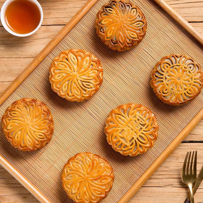 华洲散装中秋月饼广式老月饼蛋黄豆沙糕点下午茶零食批发点心团购