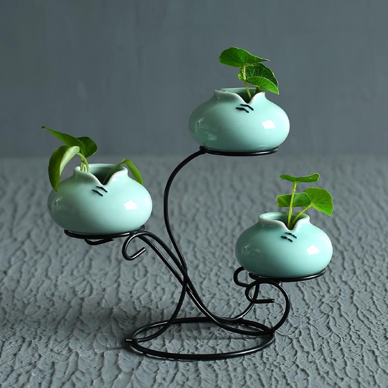 花瓶客厅插花陶瓷摆件家居饰品小清新桌台袖珍水培创意简约小花器