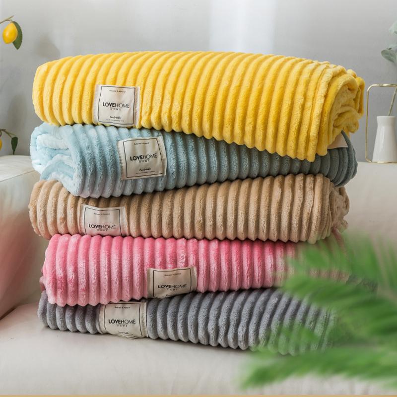 牛奶绒毛毯被子夏天加厚冬季单双人午休珊瑚绒午睡办公室沙发盖毯