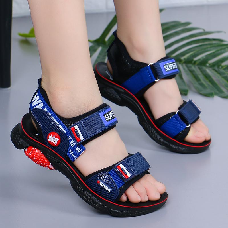 男童凉鞋2020新款夏季小孩沙滩鞋中大童皮凉鞋儿童宝宝软底凉鞋子