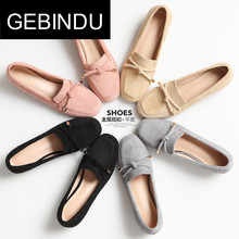 GEBINDU2018 spring, Korean version, casual, casual, square, heel and heel shoes.
