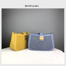 New Kind of Bag Girl Bag 2019 Popular Bag Senior Sense MK Half Moon Bag Fairy Fashion Bag Small Oblique Single Shoulder Bag