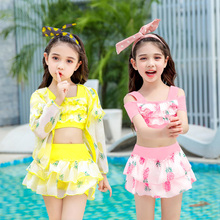 Children's swimsuits for girls, middle and large children's girls, little princess's skirt, baby girl's student's lovely suit swimsuits