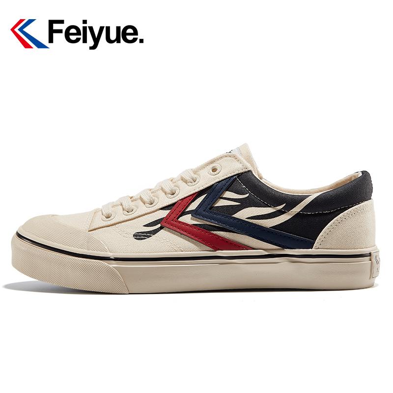 飞跃男鞋帆布鞋秋季新款学生火焰休闲板鞋街拍潮流运动低帮鞋女鞋
