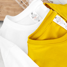 (买一送一)重磅美款纯棉男士短bo12t恤潮ne白色纯色打底衫