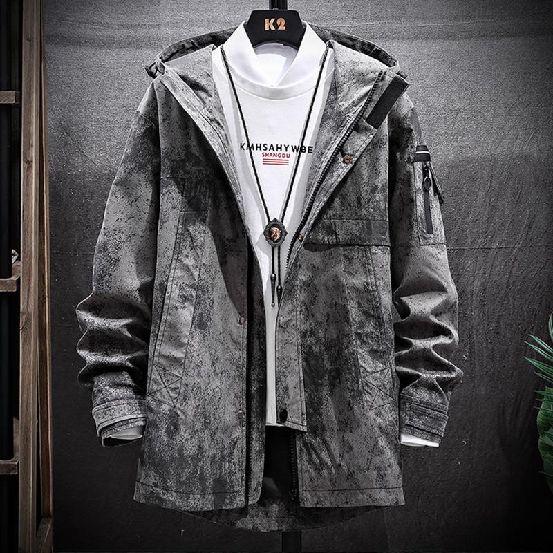 中长款外套男士韩版潮流休闲风衣2020春秋季男装上衣工装夹克冬装