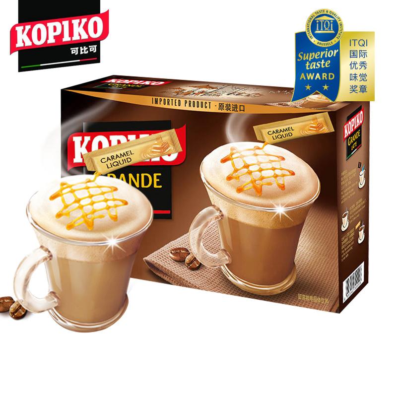 印尼进口kopiko可比可 拿铁意式速溶三合一咖啡奶香味24包696g