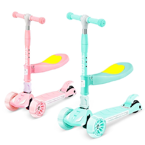 Swiss 3-in-1 children scooter with seat
