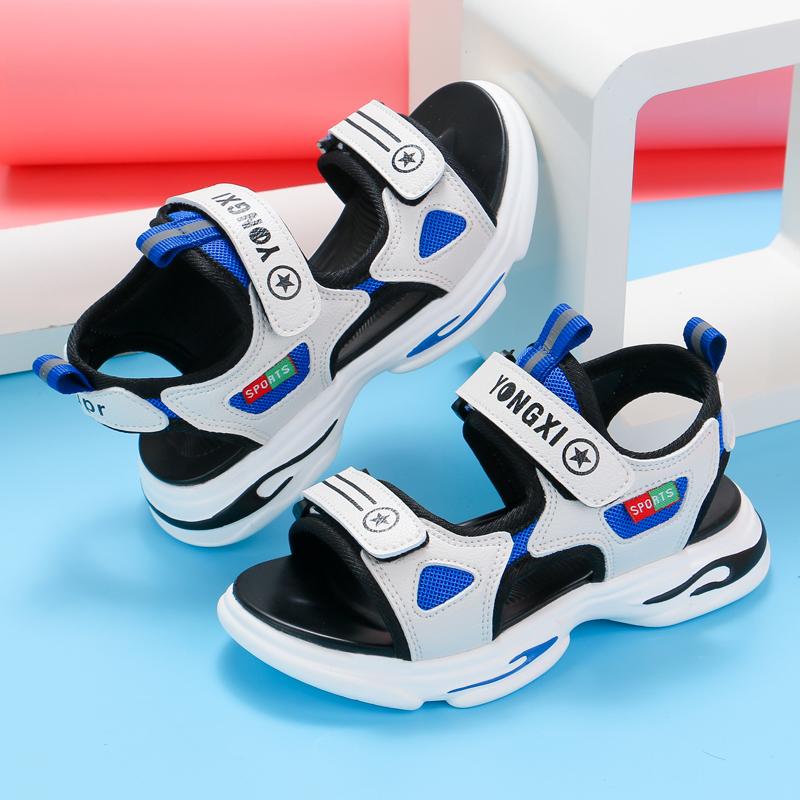 男童凉鞋2021夏季新款软底宝宝小童防滑小男孩鞋子夏儿童沙滩鞋男