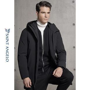 报喜鸟男装潮流休闲中长款羽绒服 冬季上衣男士直筒厚款外套