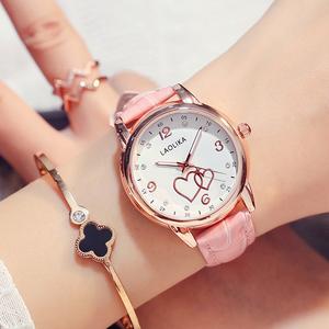 闺蜜生日手表礼物可爱时尚休闲夜光皮带表防水女士韩版高中学生表