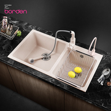 意大利we0英石水槽uo槽厨房水池洗碗池菜盆燕麦色水盆洗菜池