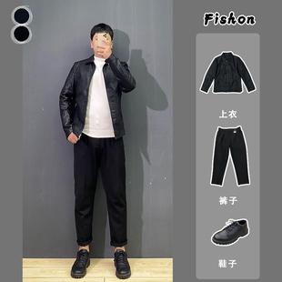 套装款式都有 2020秋季新款外套韩版修身皮衣男士休闲夹克ins帅气图片