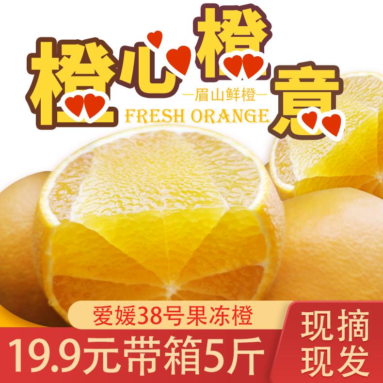 四川眉山爱媛38号果冻橙水果新鲜当季橘子柑桔子脐橙5斤8斤包邮
