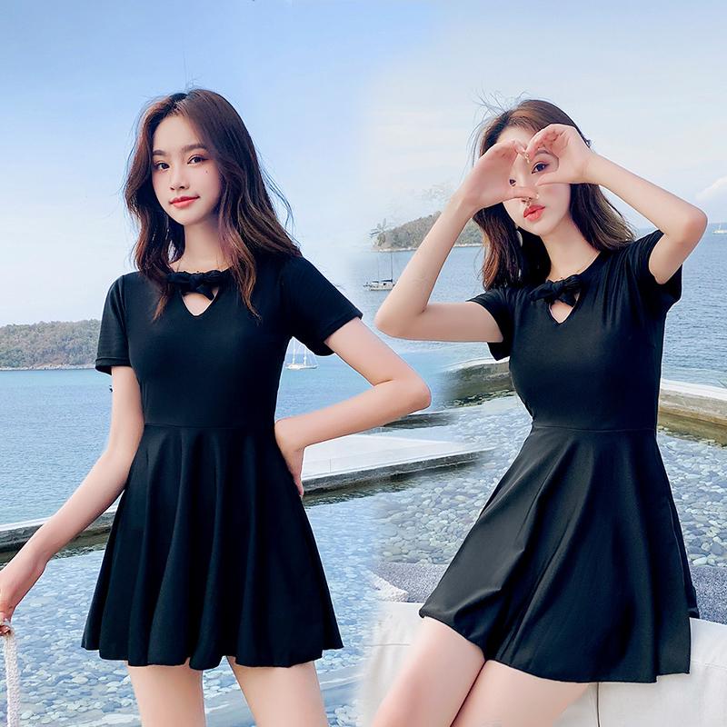 泳衣女遮肚显瘦2020新款连体保守裙式大码学生韩国ins风泡温泉