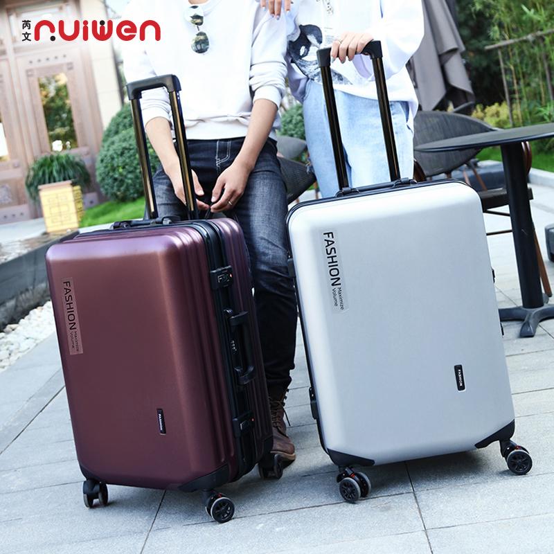 芮文拉杆箱万向轮女铝框旅行箱男学生皮箱子20寸登机箱行李箱小型