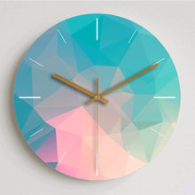 现代简约梦幻钟表创xi6北欧静音en装饰大号石英时钟