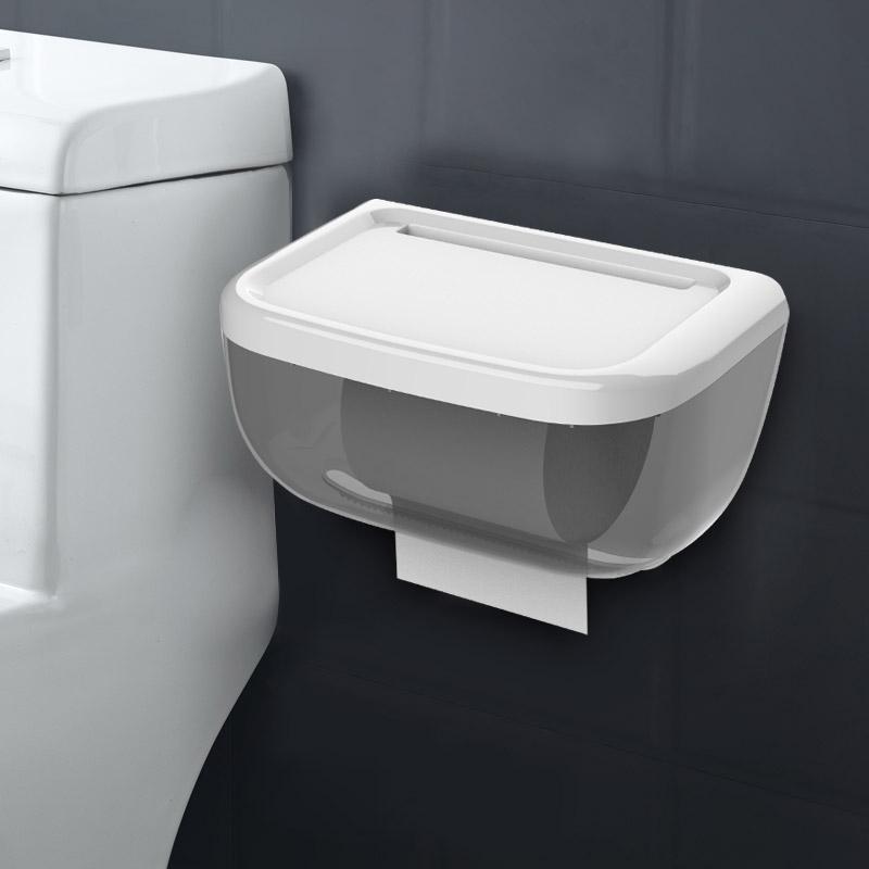厕所纸巾盒免打孔防水手纸盒卷纸筒家用卫生间抽纸盒卫生纸置物架