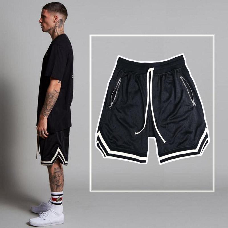 夏季篮球裤男宽松过膝街头运动短裤速干训练健身网眼美式五分裤潮满39元减10元