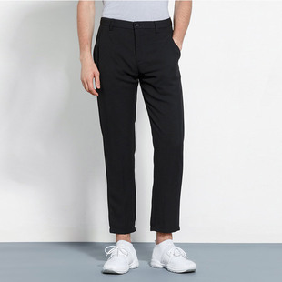 卡奴迪路旗舰店男装春季新款直筒休闲裤男士纯色修身休闲长裤子男
