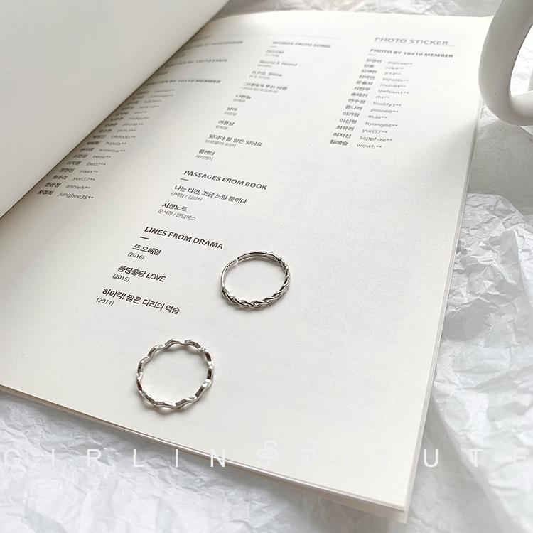冷淡风麻花食指戒指女ins潮人小众设计网红时尚个性简约尾戒指环