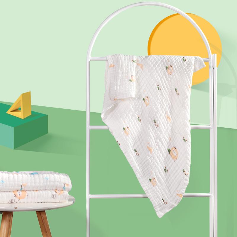 安士达 婴儿纯棉纱布浴巾毛巾洗澡巾 新生儿宝宝婴幼儿棉纱被子