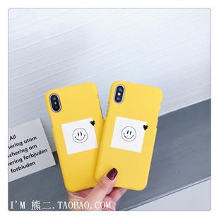 熊熊数码 iPhone XS/MAX手机壳XR原创防摔半包7/8p硬壳 新品笑脸