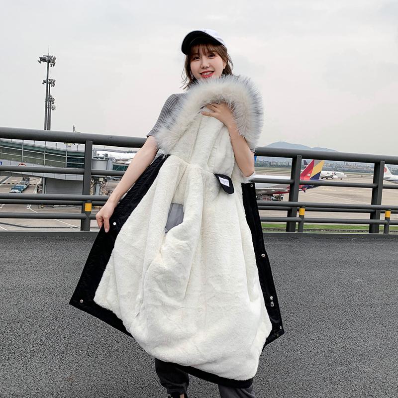派克服闺蜜装棉衣女中长款2019冬季新款东大门加厚加绒羽绒棉服潮