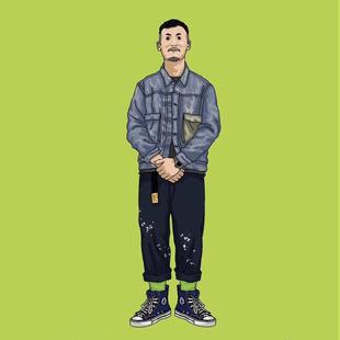 BestRetro 余文乐同款 六叔 LOK666 CHINO 工装裤 卡其裤泼墨长裤