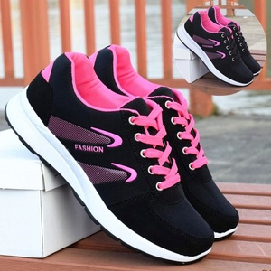 Korean version of 2019 autumn new black sneakers women's Korean casual running shoes lace student travel women's shoes