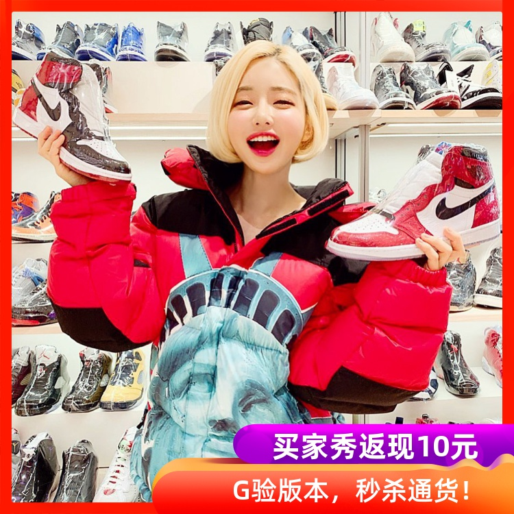 過驗Supreme x FACE Statue of Liberty自由女神像男女羽絨服外套