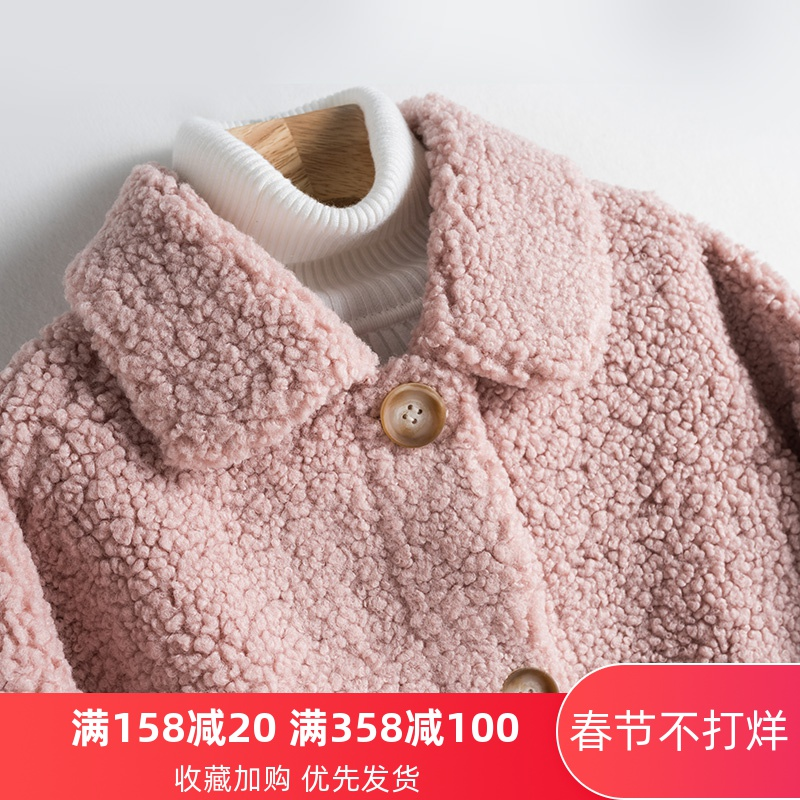 颗粒羊剪绒皮草外套女2019秋冬新款短款羊羔毛皮毛一体羊羔绒大衣图片