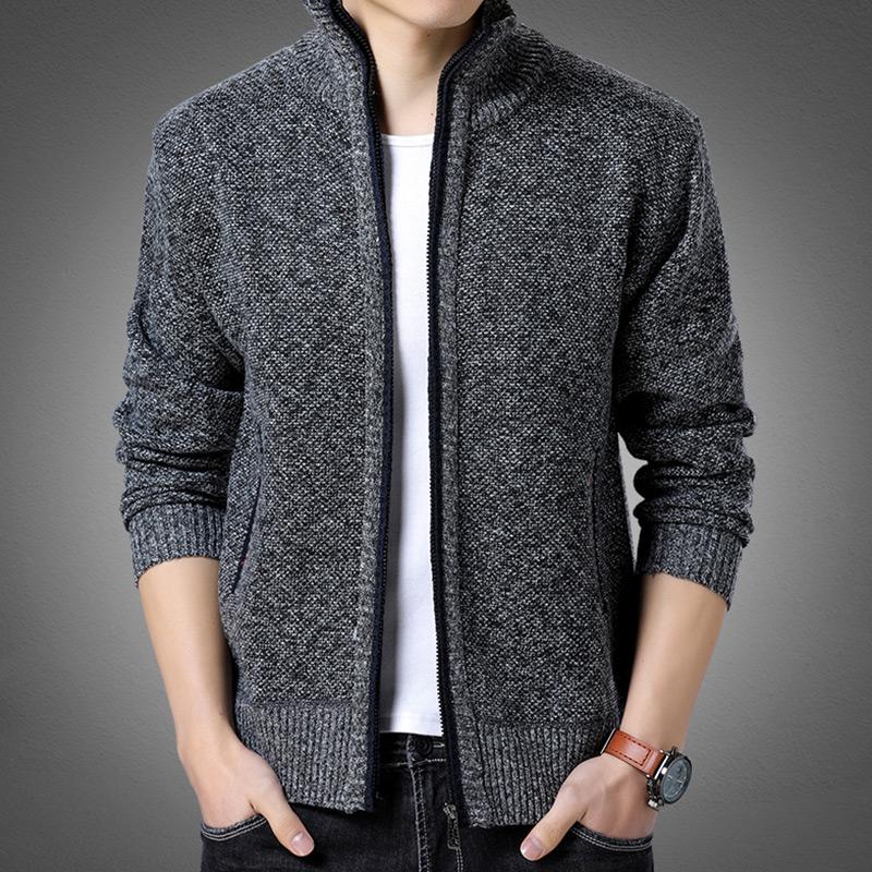 肯梵图针织衫男士立领开衫毛衣春款韩版外穿外套潮