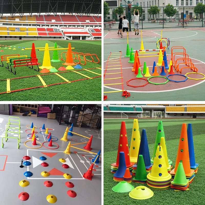 组装障碍杆跆拳道练习儿童足球训练器材锥桶地标锥形路障体育篮球