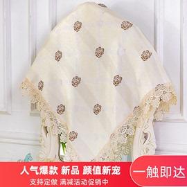 镜子遮尘布帘风水帘唯美田园蕾丝多用盖万能盖巾卧室梳妆台镜子布