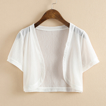 (小)披肩女夏季雪纺防晒衣空调衫ji11外套(小)tu搭开衫短款外搭