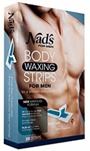 Nad's for Men Body Waxing Strips 20 ea (Pack of 2)Nad的男