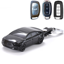 适用北京现代lo3车钥匙保hr扣领动菲斯塔名图ix35模型